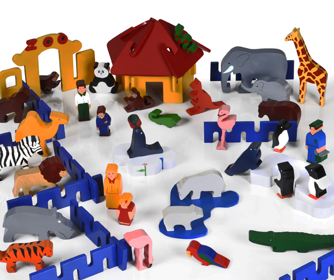 Shop By Category Small World Wooden Zoo Play Set